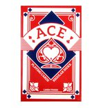 Playing Cards: Red Ace Linen Finish Regular Index